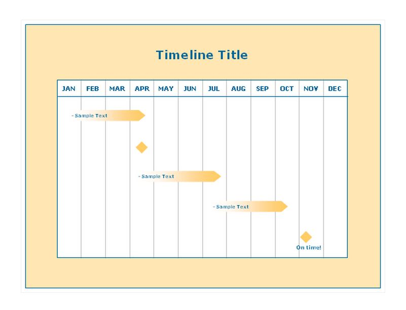 12 month timeline template word