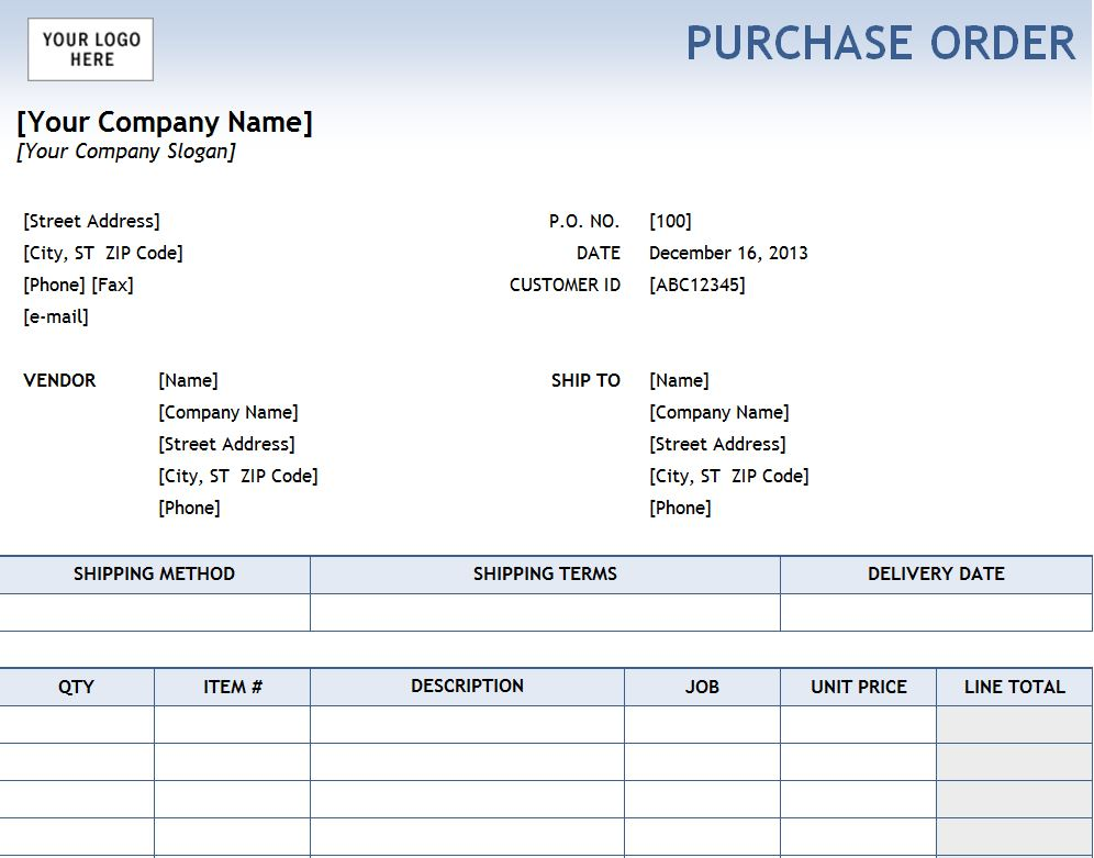 excel purchase order tracking
