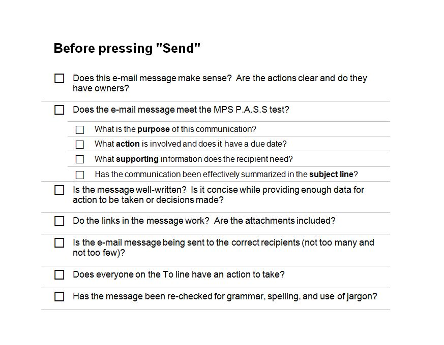 Email Marketing Checklist  Email Marketing Template