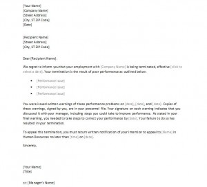 Employee Termination Letter  Termination Letter Template