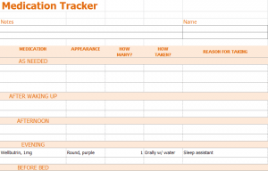 Medication Tracker Template