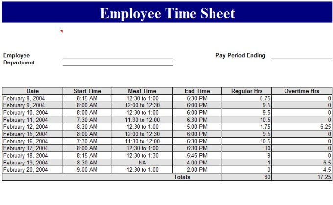 Time Card Calculator Excel Template  InfocardCo
