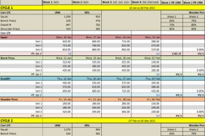 workout tracking spreadsheet - April.onthemarch.co
