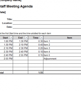 Explore the wide variety of free agenda templates, including the classic meeting agenda template in word and the flexible agenda in excel. Staff Meeting Agenda My Excel Templates
