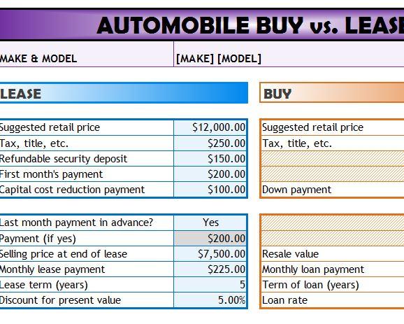 excel lease calculator