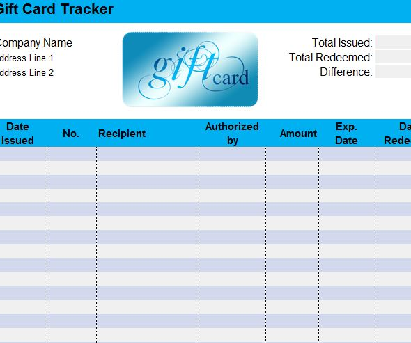 excel gift certificate template