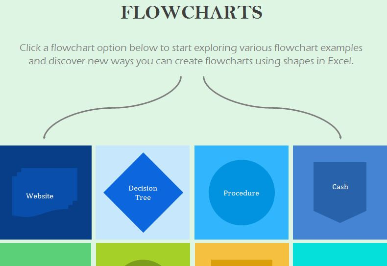 Flowchart Template  My Excel Templates