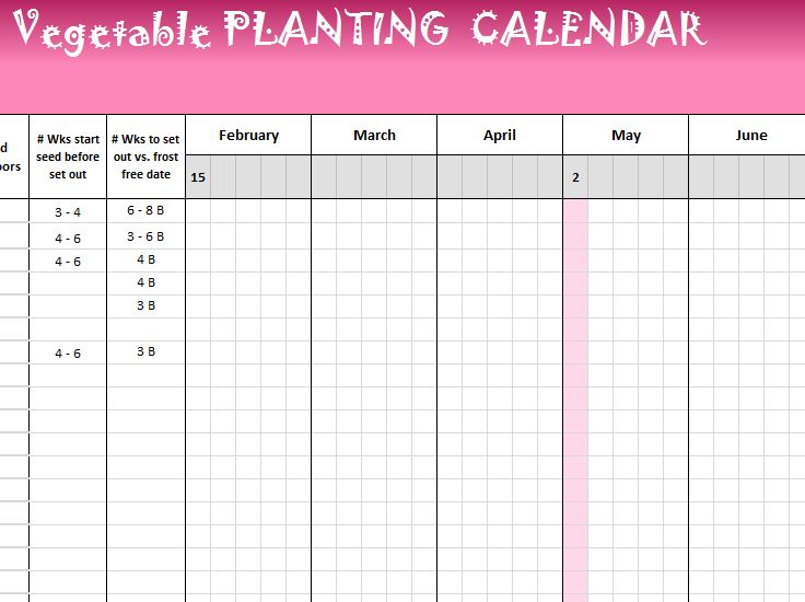 Vegetable Planting Calendar  My Excel Templates