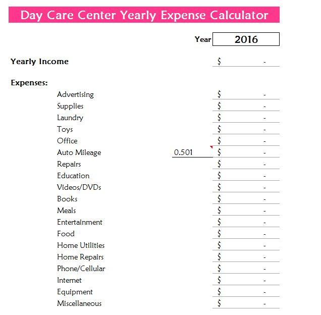 personal expense templates