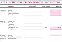 6 Tax Deductions for Independent Contractors - My Excel ...