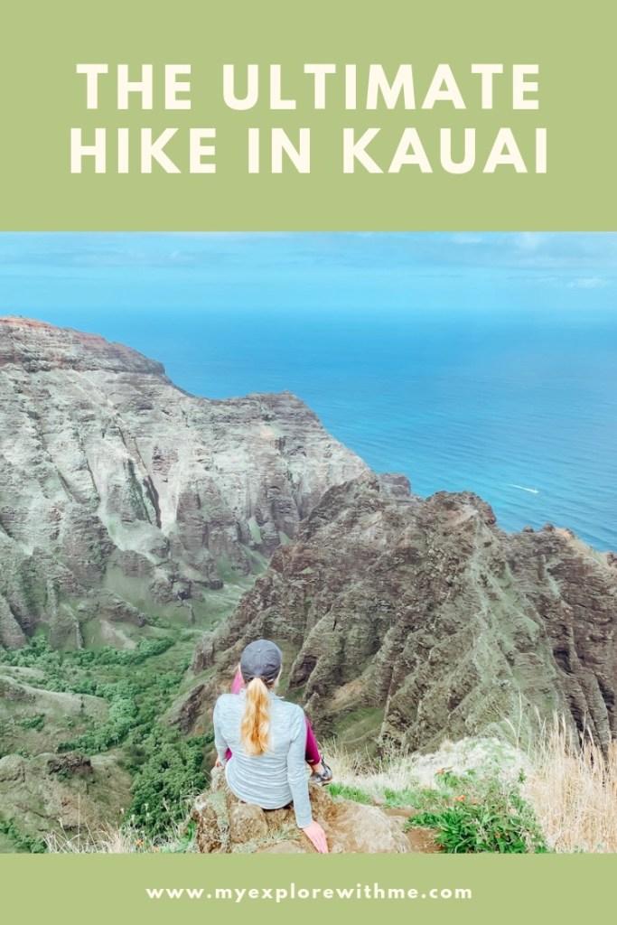 The Ultimate hike in Waimea Canyon in Kauai. #Kauai #WaimeaCanyon #hiking