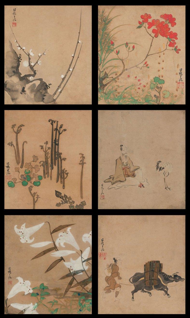 Ogata Kôrin, albume de six feuilles