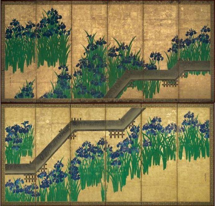 Ogata Kôrin, les huit ponts,