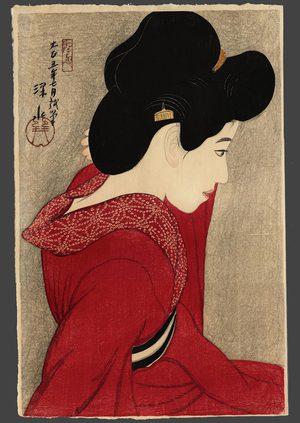 Ito Shinsui,Taikyo (Before the mirror), 1913