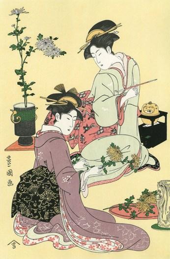 Utagawa Toyokuni, (1769-1825) Arrangement de fleur
