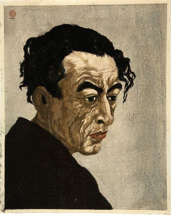 Koshiro Onchi, portrait d'Hagiwara Sakurato