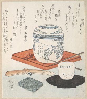 objets du thé-Totoya Hokkei ( 1780–1850) Periode Edo © met museum