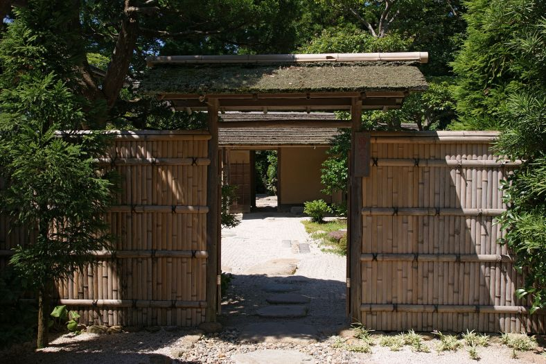 porte de jardin du pavillon de thé Meimei-an(1779) à Matsue