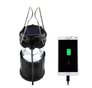 Solar Led Lantern With Mobile Charger And Flash Light