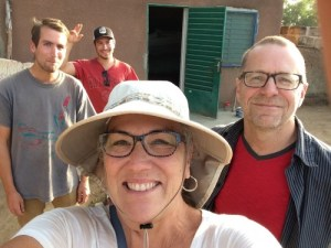 The wandering Lund Family in Samnaaba's courtyard (Photo Laureen Lund)