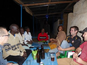 The first evening at the Soup Ladies with Erik's co-workers (Photo Laureen Lund)