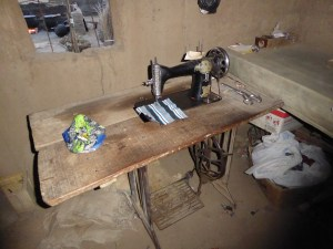 The tailor's sewing room (photo by Laureen Lund)