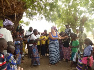 Dancing with the villagers (photo by Laureen Lund)