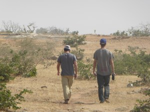 Walking to the outskirts of the village (photo Laureen Lund)