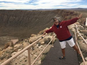 It was very windy at Meteor Crater