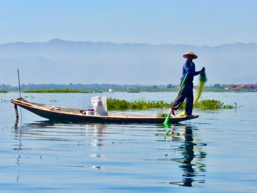 Unique fishrman Inle Lake Myanmar