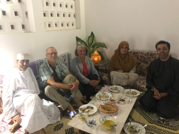 Dining in Omani home