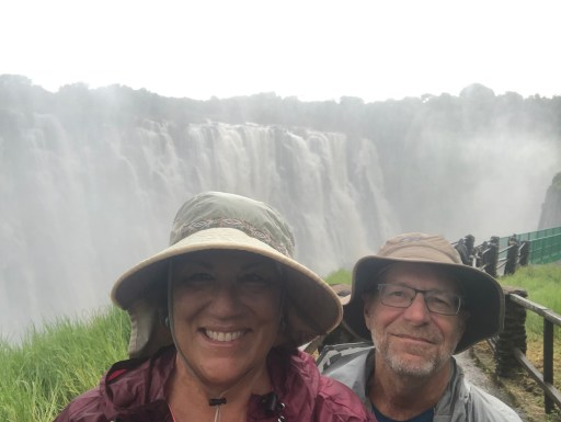 Poncho style at Victoria Falls
