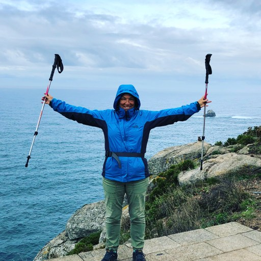 REI trekking poles in Spain