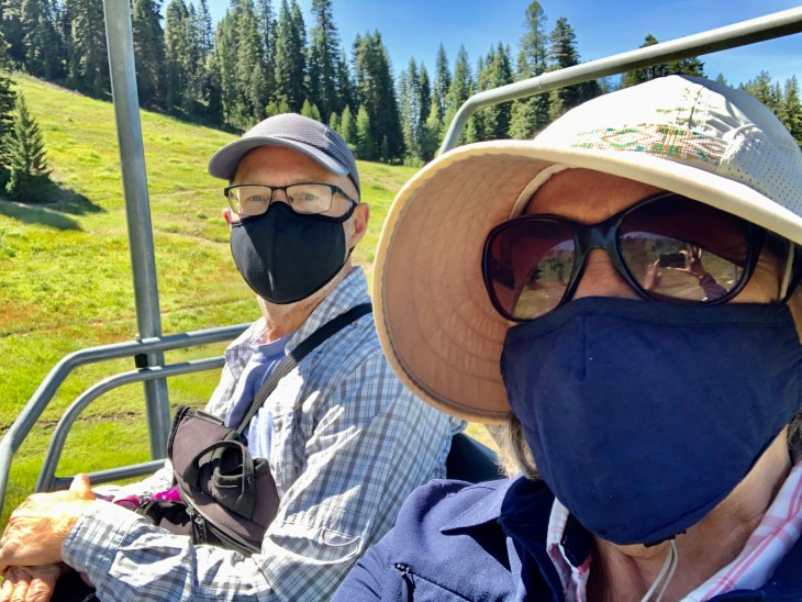 Chair lift at Brundage