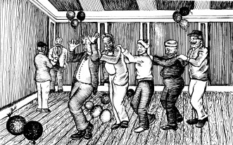 Illustration Of Snug Harbor Sailors From Peter Pigeon Of Snug Harbor By Ed Weiss