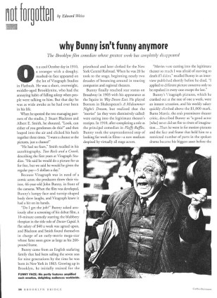 "From Freelance Writing: ""Why Bunny isn't Funny Anymore."""