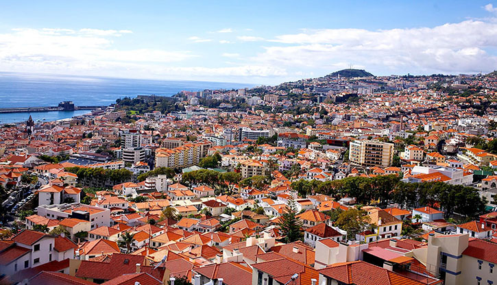 Basket Case – Aerial view of Funchal from the cable car