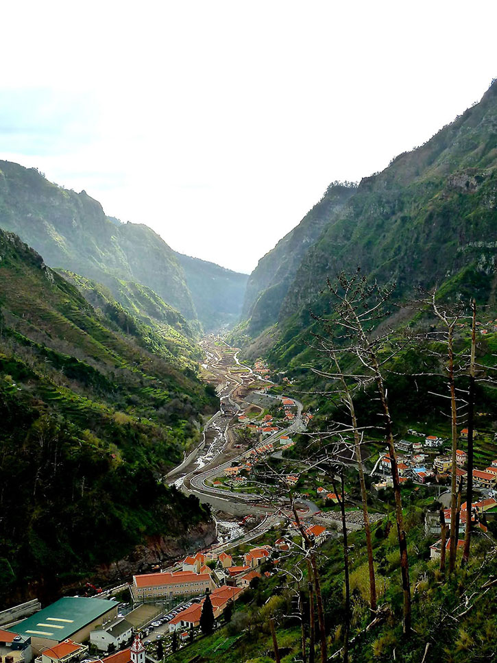 Madeira's picturesque landscape of sweeping valleys ringed by mountains are typical of the island's town settlements