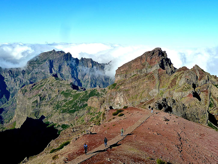 The spectacular view of Pico do Arieiro at an altitude of 1818m above sea level