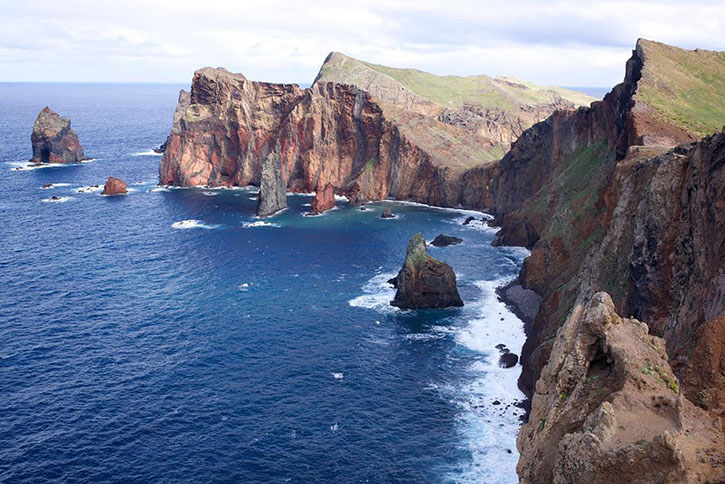The picturesque isthmus at Ponta de Sao Lourencao the easternmost part of Madeira