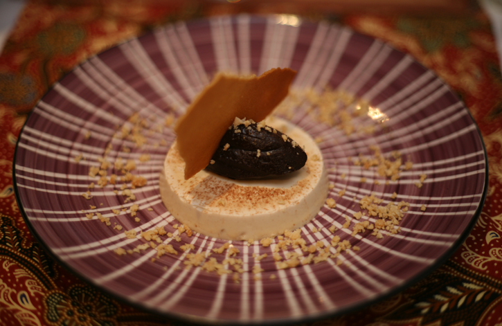 Dessert of Horlicks and Gila Melaka Parfait, Milo Gonache and Tuile served at Guan's Peranakan Food Supper Club