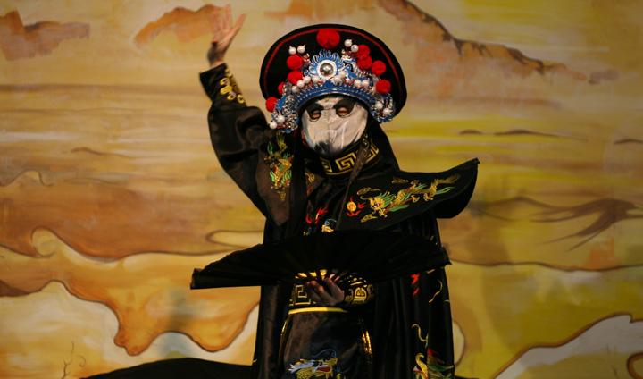 Face Mask Changing Dance (Bian Lian) - Mask 1 (White - metal element)