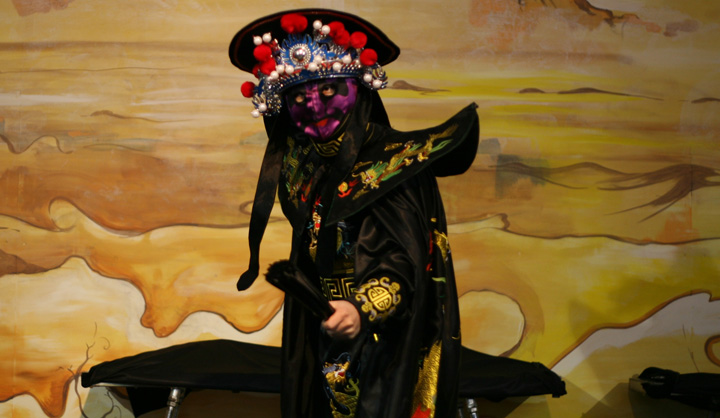 Face Mask Changing Dance (Bian Lian) - Mask 4 (Purple/red - fire element)
