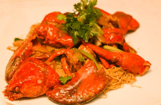 Lobster noodles at Selesa Restaurant