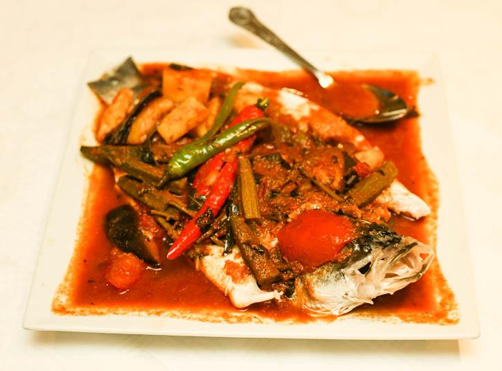 Assam Pedas Sea Bass in Selesa Restaurant
