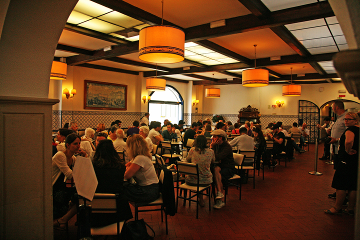 One of the many large tea rooms where.Portuguese Egg Tarts are served