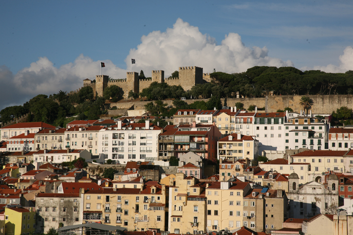 """St George's Castle overlooking Lisbon. This castle is on one the """"7"""" hills surrounding Lisbon"""