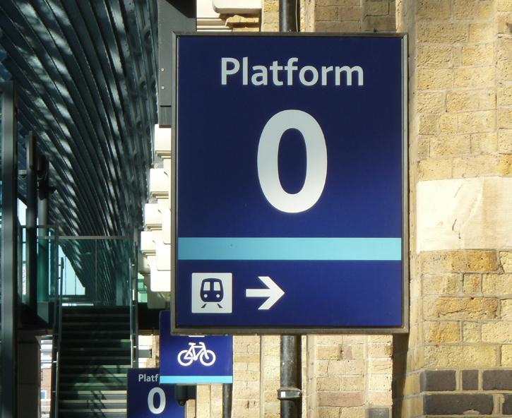 Platform 0 at Kings Cross Station