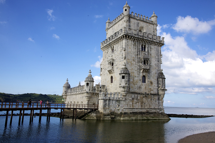The Belém Tower over looking the River Tagus.