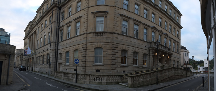 A view of a corner of the Gainsborough Bath Spa.